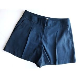 Ann Taylor • Navy Pleated Trouser Shorts